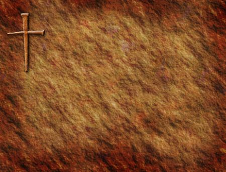 antique paper: Rustic background with cross in corner