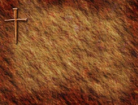 cross: Rustic background with cross in corner