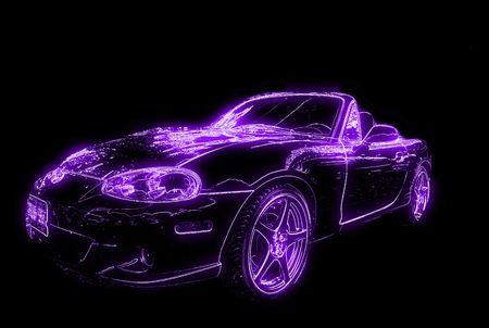 Neon auto gloed