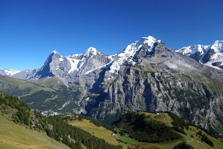 capped: Swiss Alps Stock Photo
