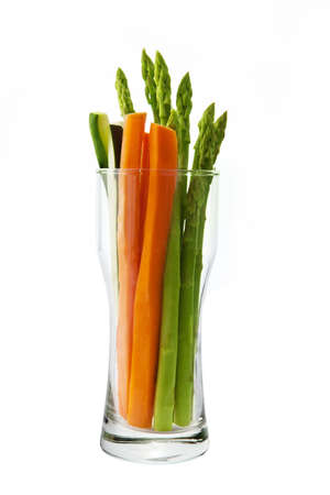 low calorie: Low calorie vegetable in an hour glass shaped glass Stock Photo