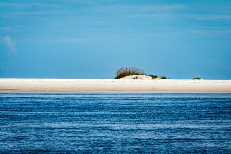 small sandbar island on the eastern seaboard of florida