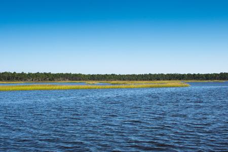 scenic panoramic shot of the florida intercoastal waterway near jacksonville florida