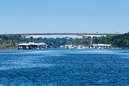 bridge spanning the intercoastal waterway in northern florida