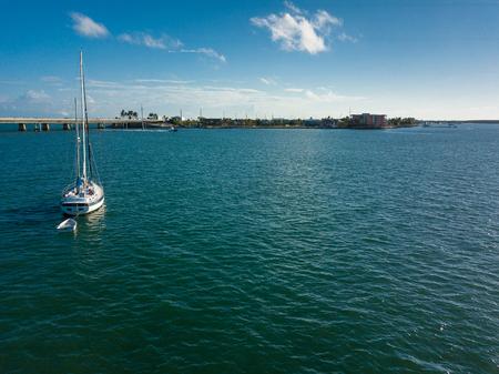 Morgan Out Island 41 sailboat anchored off of knight key near marathon florida