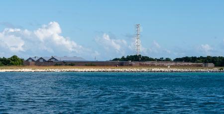 fort zachery in key west shot from the water Фото со стока