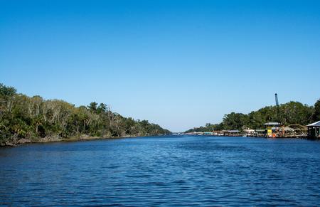 sunny day on the florida intercoastal waterway Фото со стока