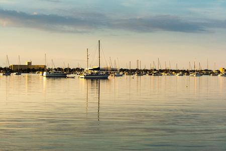 sailboats mooring in garrison bight in key west florida