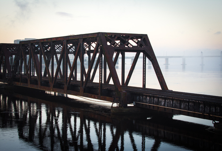 railroad bridge over st johns river in jacksonville florida