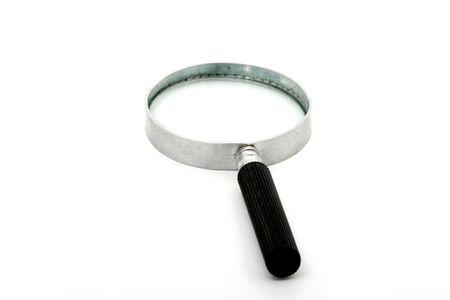 ハンドルは黒分離虫眼鏡 写真素材