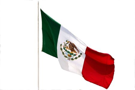 Mexican Flag blowing in the wind