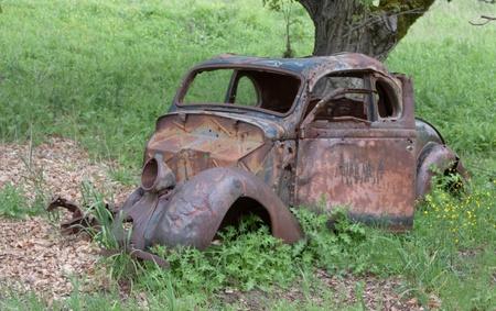 rusty car: Abandoned Car