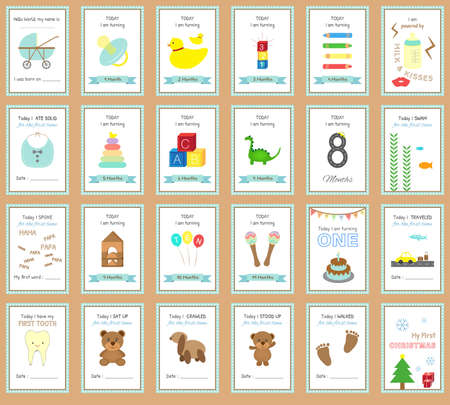 Printable Baby Milestone Cards Design