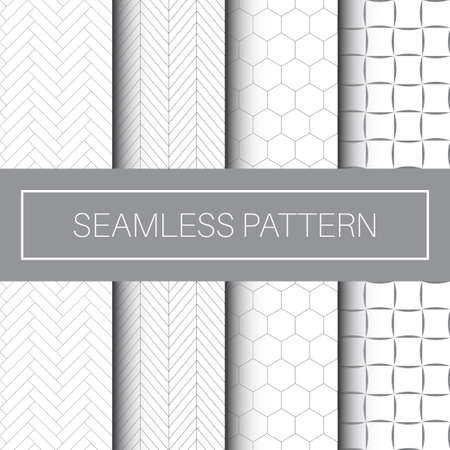 Seamless Geometric Pattern Tile Collection in Isolated White Background