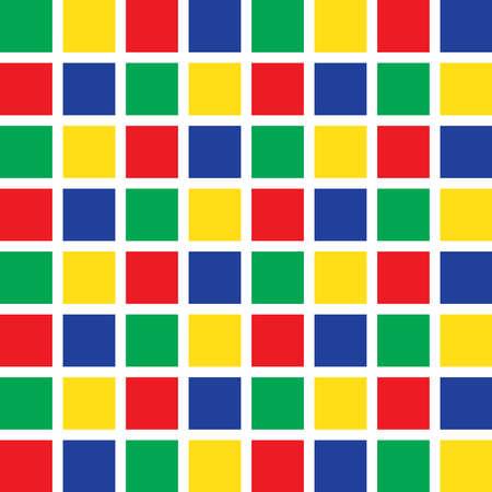 Seamless Pattern Tiles with Colorful Cubes Ilustración de vector
