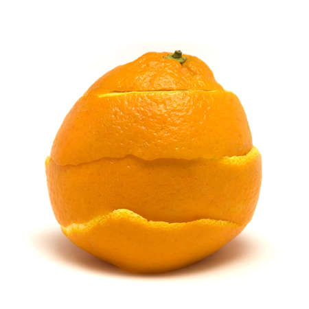 An orange peal being healed.