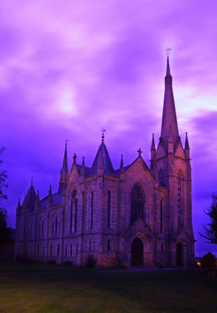 god box: The Parish Church of Saint Laurence, with a gorgeous (and original), purple sky.