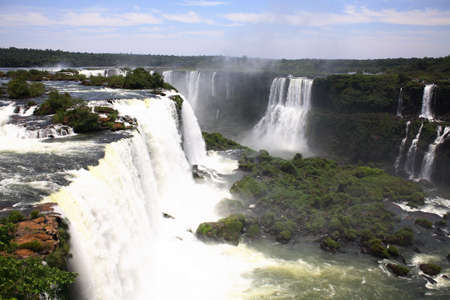 The Iguassu (or Iguazu) Falls is one of the largest masses of fresh water on the planet and divides, in South America, Brazil, Paraguay and Argentina. The waterfall system consists of 275 falls along 2.7 kilometres (1.67 miles) of the Iguazu River. Some o