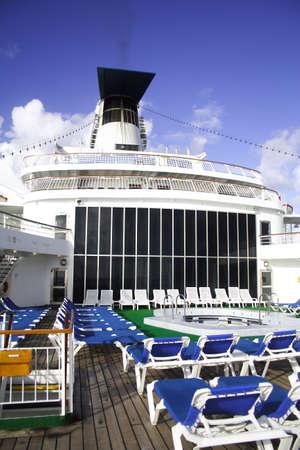 Cruise ship sun deck. photo