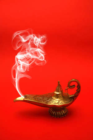 A magical genie lamp with smoke. Stock Photo - 2942745