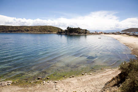 Situated on the Bolivian side of the lake with regular boat links to the Bolivian town of Copacabana, Isla del Sol (Island of the sun) is one of the lakes largest islands. photo