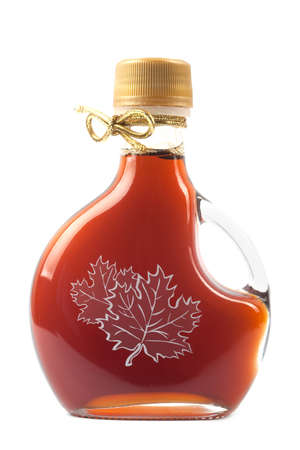 Maple Syrup Bottle isolated on a white background. Image is at 21 megapixels. Stock Photo - 6399993