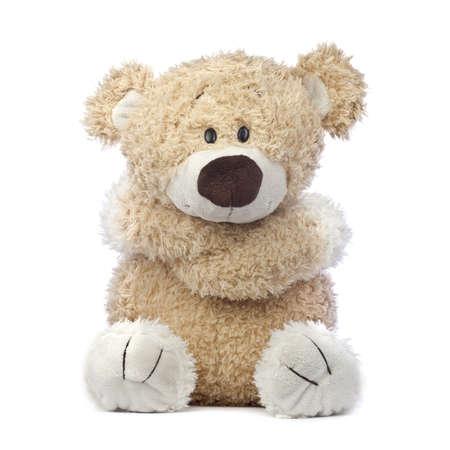 teddy bear: Un adorable oso de peluche que es fr�o, triste y herido, abrazando a s� mismo.