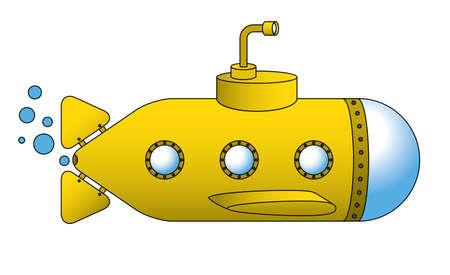 A yellow submarine Stock Vector - 8853991