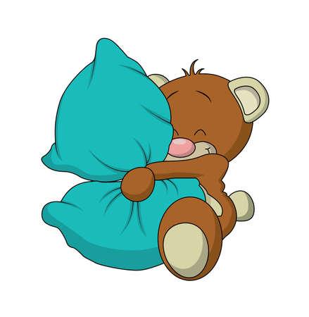 An adorable stuffed teddy bear vector, isolated on a white background.