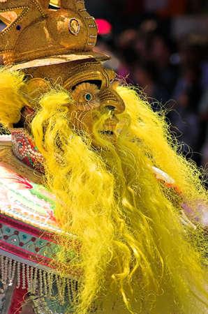 Man in a carnival mask 免版税图像