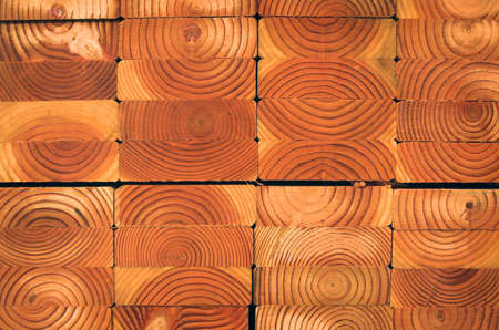 A stack of wet boards at the lumber yard Stock Photo