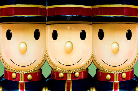Three nutcracker wooden soldiers for Christmas season decoration Stock Photo - 2649009