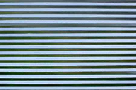 A new wall of corrugated sheet metal photo