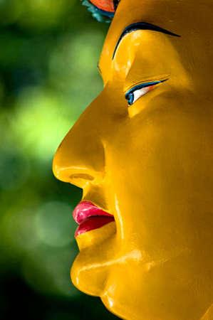 Profile of a statue of Ksitigarbha Bodhisattva Stock Photo - 3348776