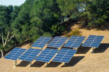 Photovoltaic panels used to power a rural home. Stock Photo - 4061485
