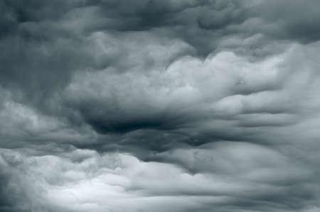 Dark storm clouds forming before the rain begins