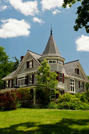victorian style: A Queen Ann style Victorian house in rural New Hampshire