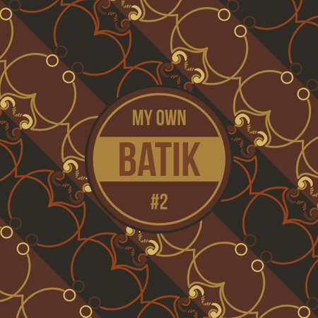 Seamless Batik Ornamental Decorative Pattern with Brown Combination