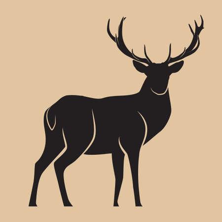Deer Silhouette Art Vector illustration