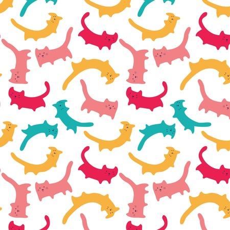 Cute colorful cat pattern