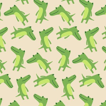 Cute crocodile pattern