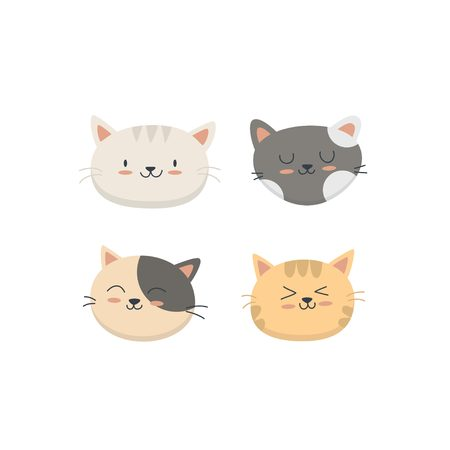 Cute cat collection set