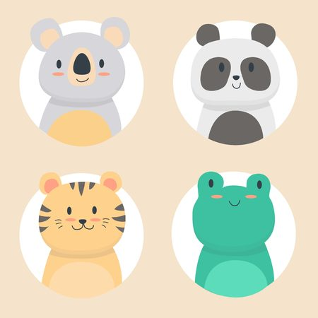 Cute animals set collection