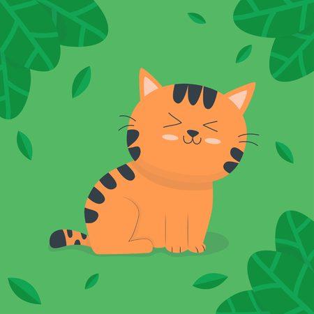 Cute tiger in the jungle