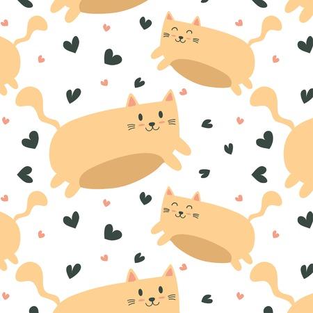 Cute flying cat pattern