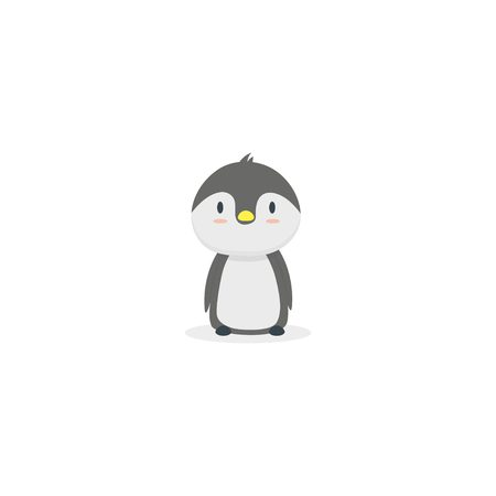 Cute baby penguin icon Vettoriali