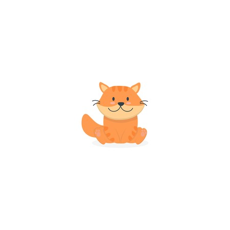 Cute baby cat icon