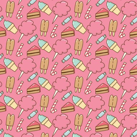 Cute cake pattern vector