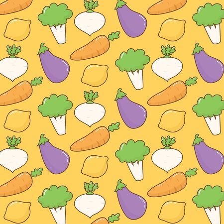 Cute vegetables pattern