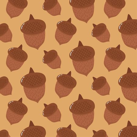 Cute nuts doodle pattern